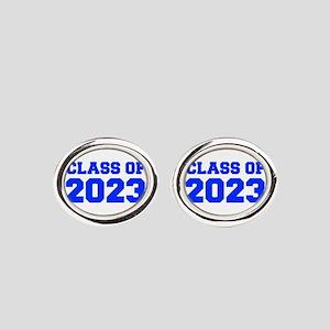 CLASS OF 2023-Fre blue 300 Oval Cufflinks