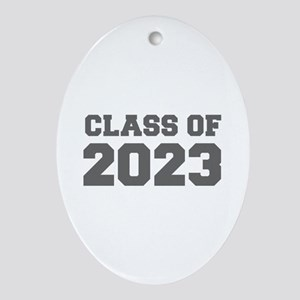 CLASS OF 2023-Fre gray 300 Ornament (Oval)