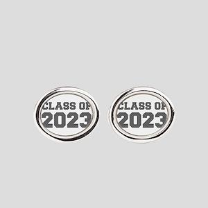 CLASS OF 2023-Fre gray 300 Oval Cufflinks