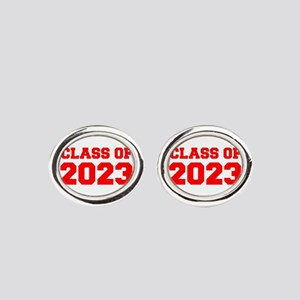 CLASS OF 2023-Fre red 300 Oval Cufflinks