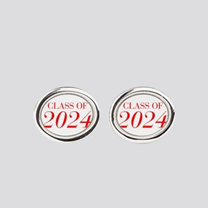 CLASS OF 2024-Bau red 501 Oval Cufflinks
