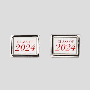 CLASS OF 2024-Bau red 501 Rectangular Cufflinks