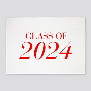 CLASS OF 2024-Bau red 501 5'x7'Area Rug
