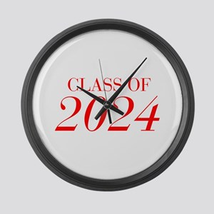 CLASS OF 2024-Bau red 501 Large Wall Clock