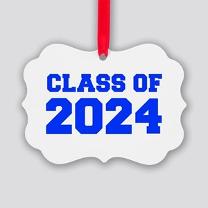 CLASS OF 2024-Fre blue 300 Ornament