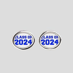 CLASS OF 2024-Fre blue 300 Oval Cufflinks