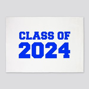 CLASS OF 2024-Fre blue 300 5'x7'Area Rug