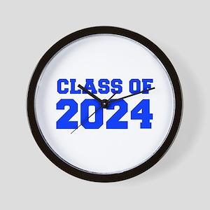 CLASS OF 2024-Fre blue 300 Wall Clock