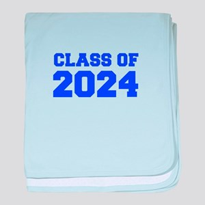 CLASS OF 2024-Fre blue 300 baby blanket