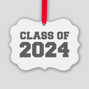 CLASS OF 2024-Fre gray 300 Ornament