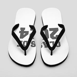 CLASS OF 2024-Fre gray 300 Flip Flops