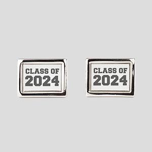 CLASS OF 2024-Fre gray 300 Rectangular Cufflinks