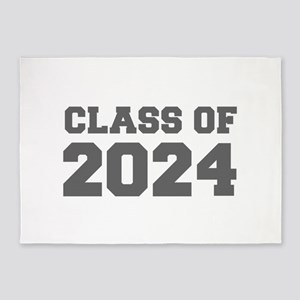CLASS OF 2024-Fre gray 300 5'x7'Area Rug