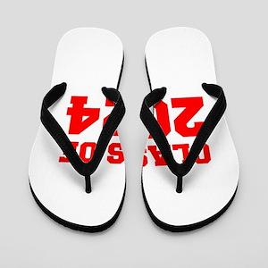 CLASS OF 2024-Fre red 300 Flip Flops
