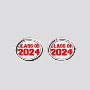 CLASS OF 2024-Fre red 300 Oval Cufflinks