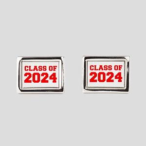 CLASS OF 2024-Fre red 300 Rectangular Cufflinks