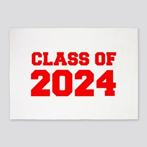 CLASS OF 2024-Fre red 300 5'x7'Area Rug