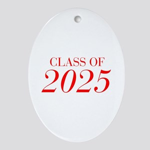 CLASS OF 2025-Bau red 501 Ornament (Oval)