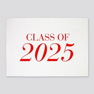 CLASS OF 2025-Bau red 501 5'x7'Area Rug