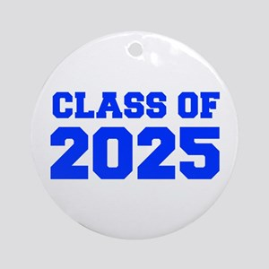 CLASS OF 2025-Fre blue 300 Ornament (Round)