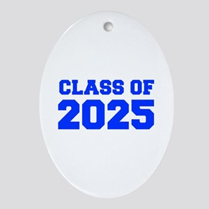 CLASS OF 2025-Fre blue 300 Ornament (Oval)