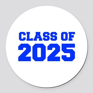 CLASS OF 2025-Fre blue 300 Round Car Magnet