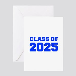 CLASS OF 2025-Fre blue 300 Greeting Cards