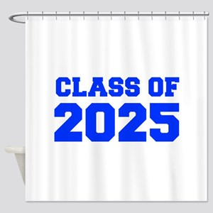CLASS OF 2025-Fre blue 300 Shower Curtain