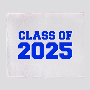 CLASS OF 2025-Fre blue 300 Throw Blanket