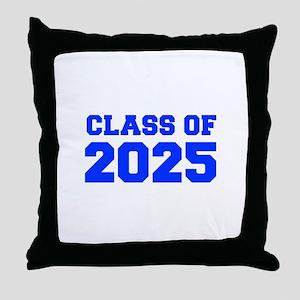 CLASS OF 2025-Fre blue 300 Throw Pillow