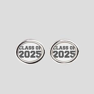 CLASS OF 2025-Fre gray 300 Oval Cufflinks
