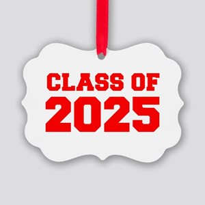 CLASS OF 2025-Fre red 300 Ornament