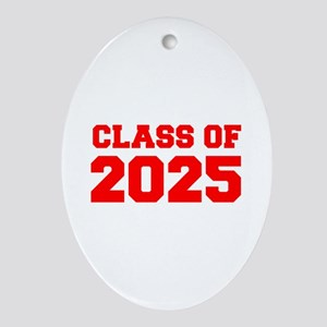 CLASS OF 2025-Fre red 300 Ornament (Oval)