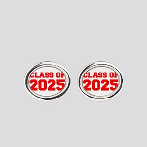 CLASS OF 2025-Fre red 300 Oval Cufflinks