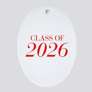 CLASS OF 2026-Bau red 501 Ornament (Oval)