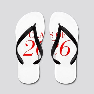 CLASS OF 2026-Bau red 501 Flip Flops