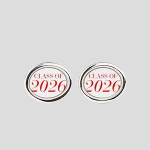 CLASS OF 2026-Bau red 501 Oval Cufflinks