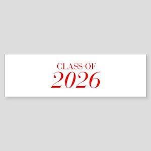 CLASS OF 2026-Bau red 501 Bumper Sticker