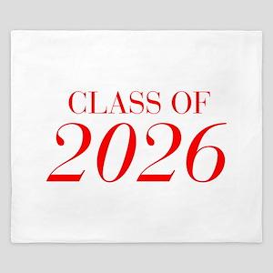 CLASS OF 2026-Bau red 501 King Duvet