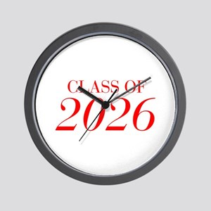 CLASS OF 2026-Bau red 501 Wall Clock
