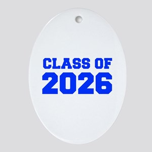CLASS OF 2026-Fre blue 300 Ornament (Oval)