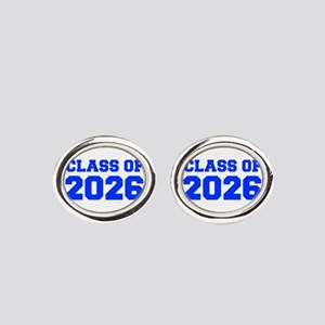 CLASS OF 2026-Fre blue 300 Oval Cufflinks