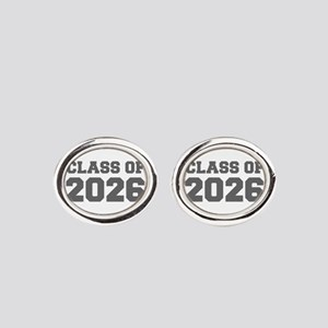 CLASS OF 2026-Fre gray 300 Oval Cufflinks