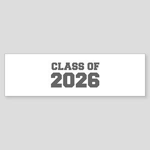 CLASS OF 2026-Fre gray 300 Bumper Sticker