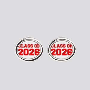 CLASS OF 2026-Fre red 300 Oval Cufflinks
