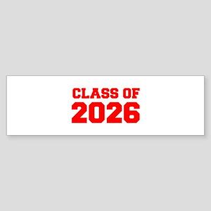 CLASS OF 2026-Fre red 300 Bumper Sticker