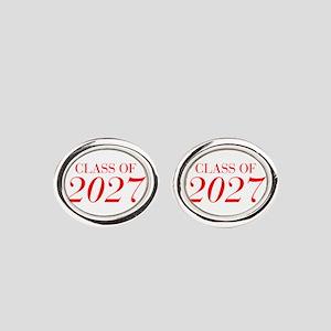 CLASS OF 2027-Bau red 501 Oval Cufflinks