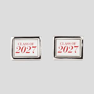 CLASS OF 2027-Bau red 501 Rectangular Cufflinks