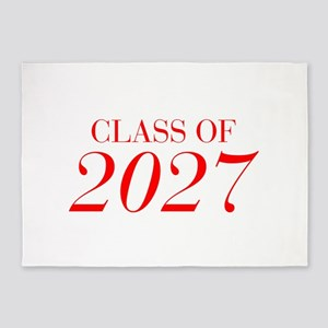 CLASS OF 2027-Bau red 501 5'x7'Area Rug
