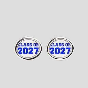 CLASS OF 2027-Fre blue 300 Oval Cufflinks